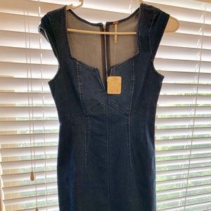 Free people Denim body con dress
